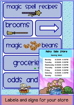 Fairy Tale Store Dramatic Play
