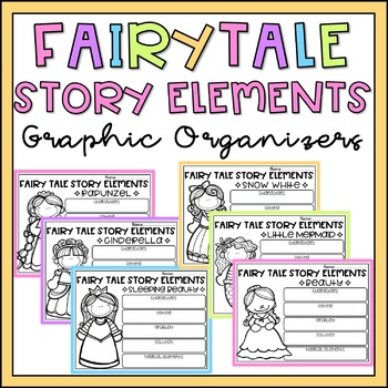 Fairy Tale Story Elements Graphic Organizers