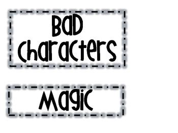 Fairy Tale Story Elements Headings