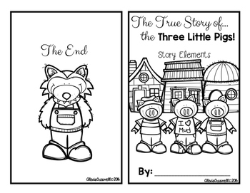 Fairy Tale Story Elements: Three Little Pigs