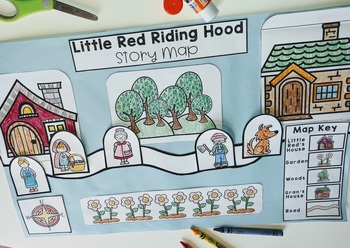 Fairy Tale Story Maps Little Red Riding Hood Story Elements