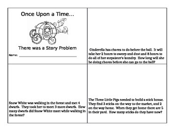 Fairy Tale Story Problems