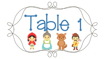 Fairy Tale Table Numbers