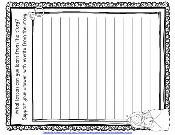 Fairy Tale Task Cards with Reading Response Sheets