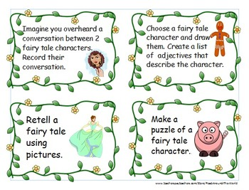 fairy tale task cards with worksheets by read around the world tpt. Black Bedroom Furniture Sets. Home Design Ideas
