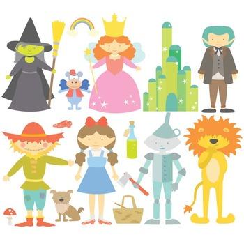 Fairy Tale The Wonderful Wizard Of Oz Digital Clipart & Vector Set