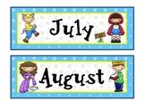 Fairy Tale Theme Calendar Months