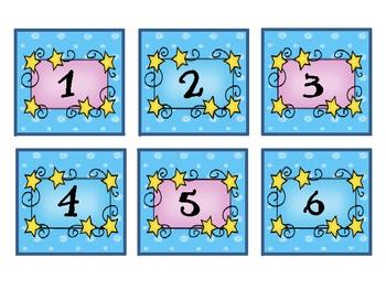 Fairy Tale Theme Calendar Numbers