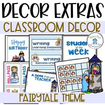 Fairy Tale Theme Class Decor Extras