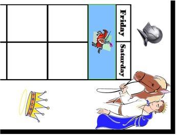 Fairy Tale Calendar! Fairy Tale Bulletin Board! Fairy Tale Classroom Theme!