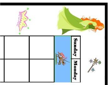 Fairy Tale Calendar! Fairy Tale Bulletin Board! Fairy Tale