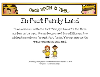 Fairy Tale Theme Fact Families for 11-19
