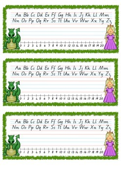 Fairy Tale Theme Q Cursive Font Desk Name Plate - Entries & Exits