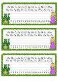 Fairy Tale Theme Q Cursive Font Desk Name Plate - Entries & Exits