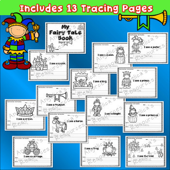 Fairy Tale Theme: Handwriting Worksheets - Sight Word Worksheets - Tracing