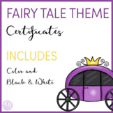 Fairy Tale Themed Certificates