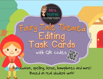 Fairy Tale Themed Editing Task Cards with QR Codes