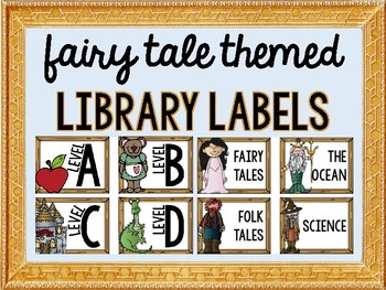Fairy Tale Themed Library Labels