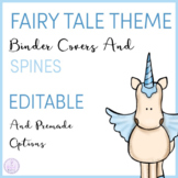 Fairy Tale Themed Music Teacher Binder Covers and Spines