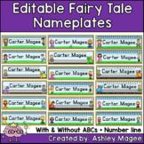 Fairy Tale Themed Editable Name plates / Desk Plates / Name Tags