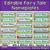 Fairy Tale Themed Editable Name plates / Desk Plates / Name Tags