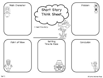 Fairy Tale Think Sheets: Story Analysis & Pre-Writing Organizer