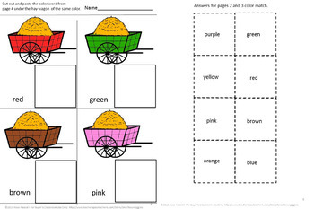 Fairy Tales Little Pigs Kindergarten Special Education Autism Cut and Paste