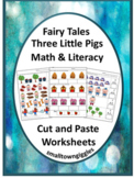 Fairy Tale Activities, Cut and Paste Worksheets, Math and Literacy Activities