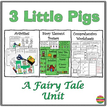 fairy tale unit the three little pigs mini unit by tiffany male. Black Bedroom Furniture Sets. Home Design Ideas