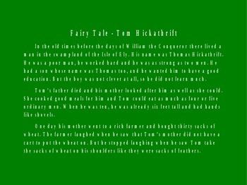 Fairy Tale - Tom Hickathrift PowerPoint