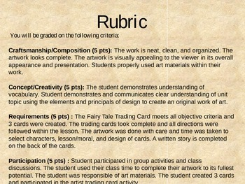 Fairy Tale Trading Cards