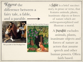 Fairy Tale Unit Introduction for High School Students (In KeyNote)