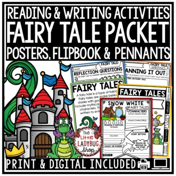 Fairy Tale Unit Anchor Charts, Activities & Fairy Tale Writing