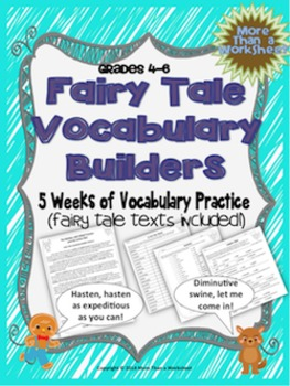 Vocabulary Builders (Fairy Tales For Big Kids--Grades 4-6))