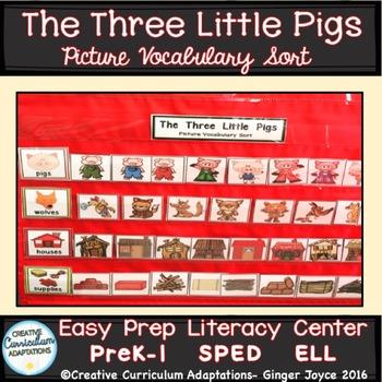 The Three Little Pigs: Vocabulary Sort