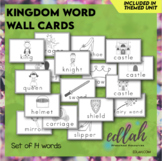 Fairy Tale Vocabulary Word Wall Cards (set of 14 Words) - Black & White Version