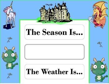 Fairy Tale Weather Chart! Fairy Tale Bulletin Board! Fairy