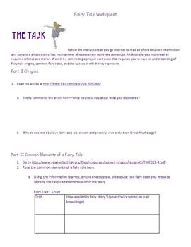Fairy Tale Webquest