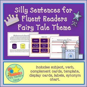 Word Work Bundle - Fairy Tale Idioms and Silly Sentences for Fluent Readers