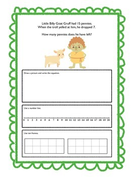 Fairy Tale Word Problems: Perfect for Common Core