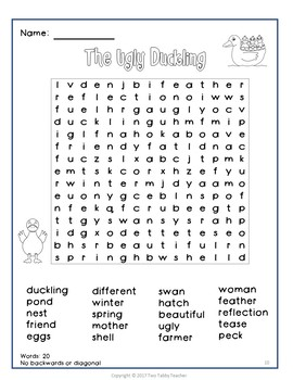 Fairy Tale Word Search grades 1 - 3