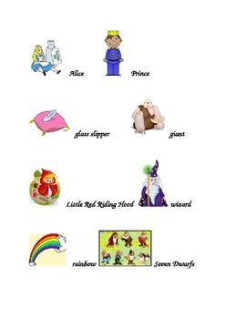 Fairy Tale Words Folder