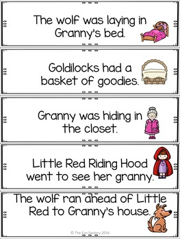 Write the Room Kindergarten  Fairy Tales 3 Levels