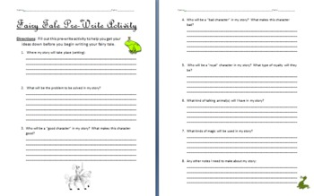 Fairy Tale Writing Assignment