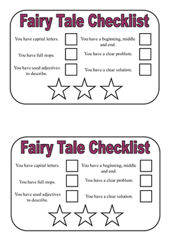Fairy Tale Writing Checklist
