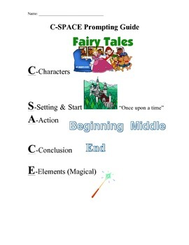 SRSD Fairy Tale Writing Resources