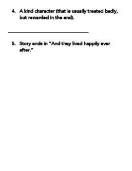 Fairy Tale Writing Project