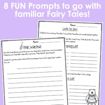 Fairy Tale Writing Prompts!
