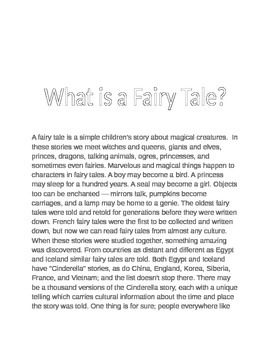 Fairy Tale and Fable Unit