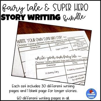 Fairy Tale and Super Hero Writing Bundle